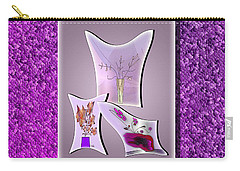 Carry-all Pouch featuring the digital art Collage Series #6 by Iris Gelbart