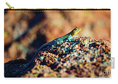Collared Lizard Carry-all Pouch by Tamyra Ayles
