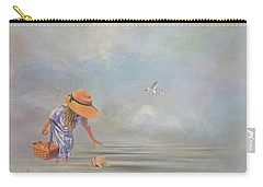 Collecting Sea Shells Carry-all Pouch by Mary Timman