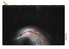 Carry-all Pouch featuring the photograph Colliding Galaxy by Marco Oliveira