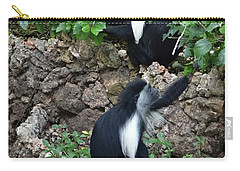 Colobus Monkey Eating Leaves For Breakfast Carry-all Pouch