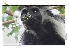 Colobus Monkey Eating Leaves In A Tree 2 Carry-all Pouch