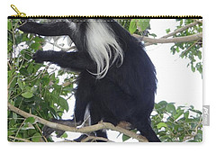 Colobus Monkey Eating Leaves In A Tree Carry-all Pouch