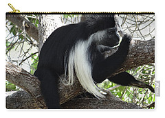 Colobus Monkey Resting In A Tree Carry-all Pouch