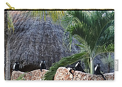 Colobus Monkey Resting On A Wall Carry-all Pouch