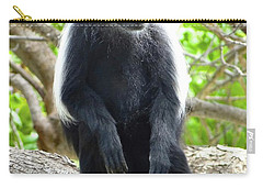 Colobus Monkey Sitting In A Tree 2 Carry-all Pouch