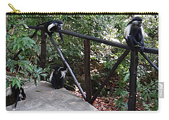 Colobus Monkeys At Sands Chale Island Carry-all Pouch