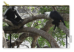 Colobus Monkeys Sitting In A Tree Carry-all Pouch