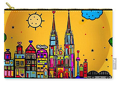 Cologne Popart By Nico Bielow Carry-all Pouch by Nico Bielow