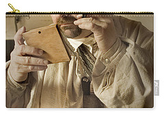 Colonial Man Shaving Carry-all Pouch by Kim Henderson