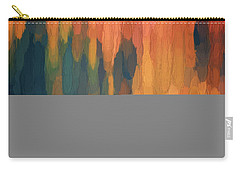 Carry-all Pouch featuring the digital art Color Abstraction L Sq by David Gordon