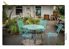 Carry-all Pouch featuring the photograph Color At Cafe by Perry Webster