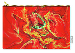 Carry-all Pouch featuring the digital art Color Blast by Deborah Benoit