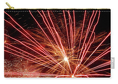 Carry-all Pouch featuring the photograph Color Blast Fireworks #0731 by Barbara Tristan