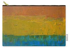 Carry-all Pouch featuring the painting Color Collage Three by Michelle Calkins