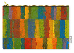 Carry-all Pouch featuring the painting Color Collage With Stripes by Michelle Calkins