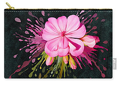 Carry-all Pouch featuring the painting Color Eruption  by Ivana Westin