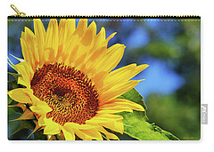 Color Me Happy Sunflower Carry-all Pouch by Christina Rollo