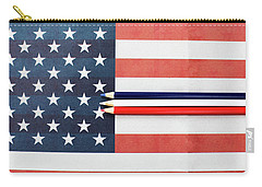 Carry-all Pouch featuring the photograph Color Me Red White And Blue by Rebecca Cozart