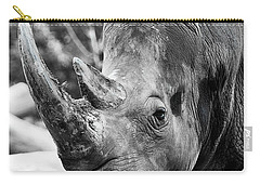 Carry-all Pouch featuring the photograph Color Me Rhino by John Haldane