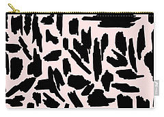Color Pattern 5 Black Carry-all Pouch