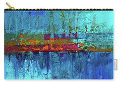 Carry-all Pouch featuring the painting Color Pond by Nancy Merkle