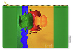 Carry-all Pouch featuring the photograph Color Pop Peppers By Kaye Menner by Kaye Menner