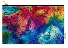 Carry-all Pouch featuring the drawing Color Splash by Megan Walsh