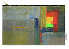 Carry-all Pouch featuring the painting Color Window Abstract by Nancy Merkle