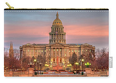 Carry-all Pouch featuring the photograph Colorado Capital by Gary Lengyel