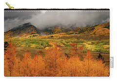 Carry-all Pouch featuring the digital art Colorado Fall Colors  by OLena Art Brand