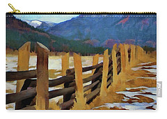 Colorado Fence Line  Carry-all Pouch by Jeff Kolker