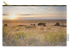 Colorado Field Sunset Landscape Carry-all Pouch by Andrea Hazel Ihlefeld