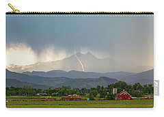 Carry-all Pouch featuring the photograph Colorado Front Range Lightning And Rain Panorama View by James BO Insogna