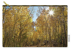 Carry-all Pouch featuring the photograph Colorado Gold by Tim Stanley