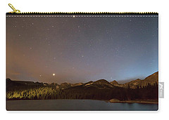 Carry-all Pouch featuring the photograph Colorado Indian Peaks Stellar Night by James BO Insogna