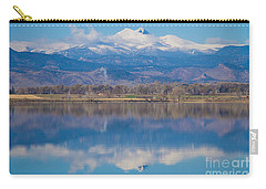 Colorado Longs Peak Circling Clouds Reflection Carry-all Pouch