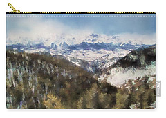Colorado Mountains 4 Landscape Art By Jai Johnson Carry-all Pouch by Jai Johnson