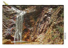 Carry-all Pouch featuring the photograph Colorado Red Rock Waterfall by Andrea Hazel Ihlefeld