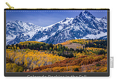 Colorado Rockies In The Fall - Ridgway Carry-all Pouch by Gary Whitton