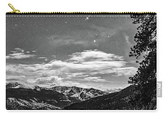 Carry-all Pouch featuring the photograph Colorado Rocky Mountain Evening View In Black And White by James BO Insogna