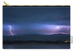 Carry-all Pouch featuring the photograph Colorado Rocky Mountain Foothills Storm by James BO Insogna