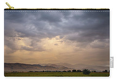 Carry-all Pouch featuring the photograph Colorado Rocky Mountain Foothills Storms by James BO Insogna