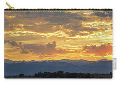 Carry-all Pouch featuring the photograph Colorado Rocky Mountain Front Range Panorama Sunset by James BO Insogna