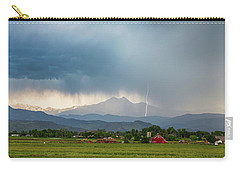 Carry-all Pouch featuring the photograph Colorado Rocky Mountain Red Barn Country Storm by James BO Insogna