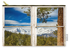 Colorado Rocky Mountain Rustic Window View Carry-all Pouch by James BO  Insogna