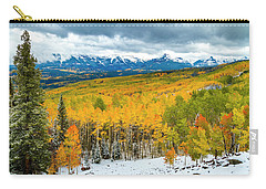 Colorado Valley Of Autumn Color Carry-all Pouch by Teri Virbickis