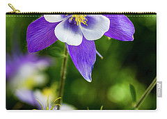 Colorado Wildflower Columbines Carry-all Pouch by Teri Virbickis