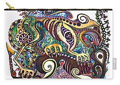 Colored Cultural Zoo D Version 2 Carry-all Pouch