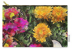 Colored Flowers Carry-all Pouch